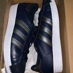 Navy Adidas Superstar